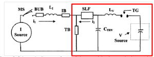 Figure 6: Schematic diagram of a parallel current injection synthetic test circuit.